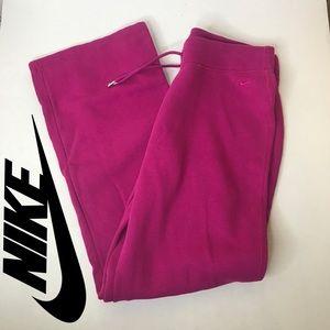 Nike woman sweat pants size L pink